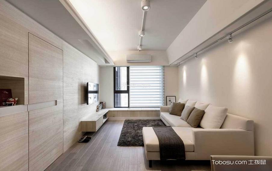 海赋江城89平米现代简约风格二居室装修效果图
