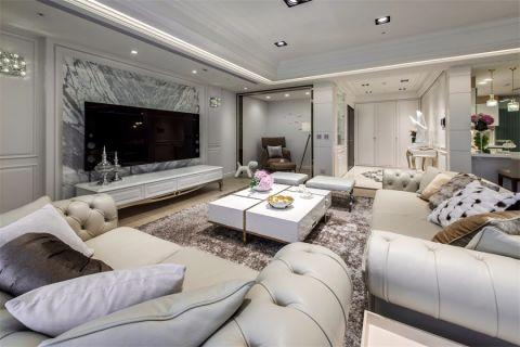 三居室簡歐風格中點光源的使用