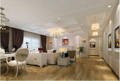 加州香山美树120平米简美风格三居室装修效果图