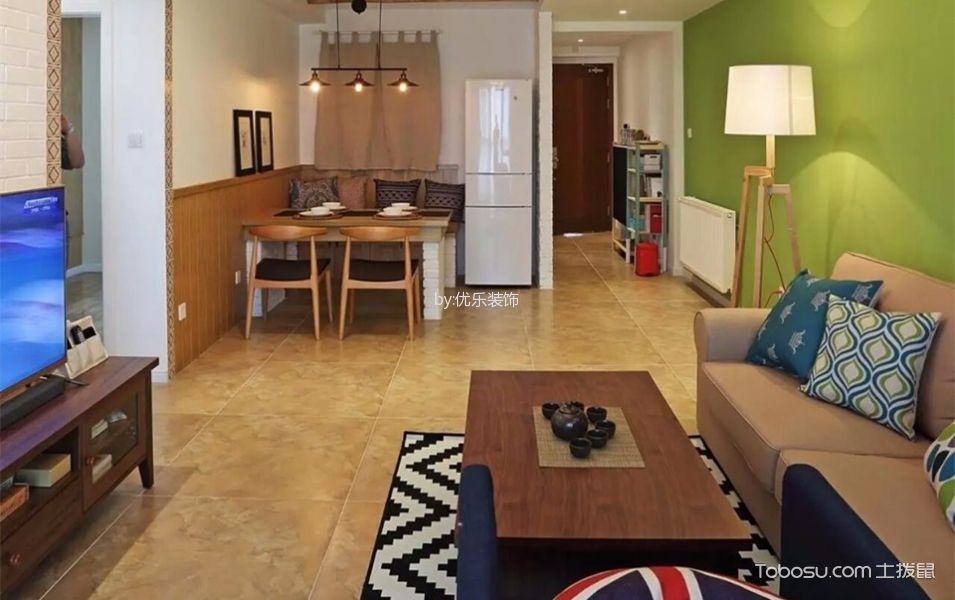 融景城70平米现代风格二居室装修效果图