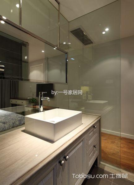 卫生间白色洗漱台北欧风格装修图片