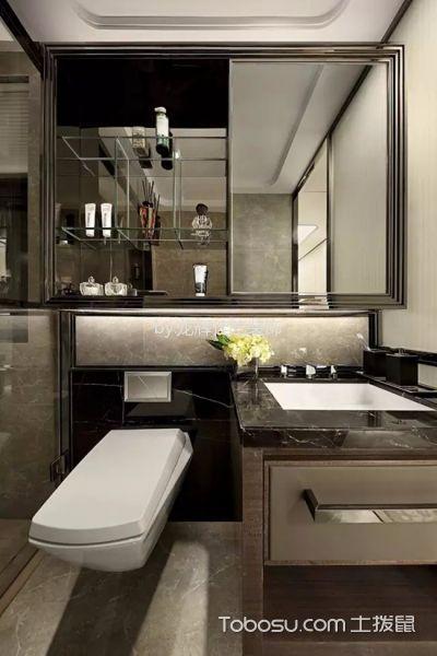 卫生间白色榻榻米现代风格装潢设计图片