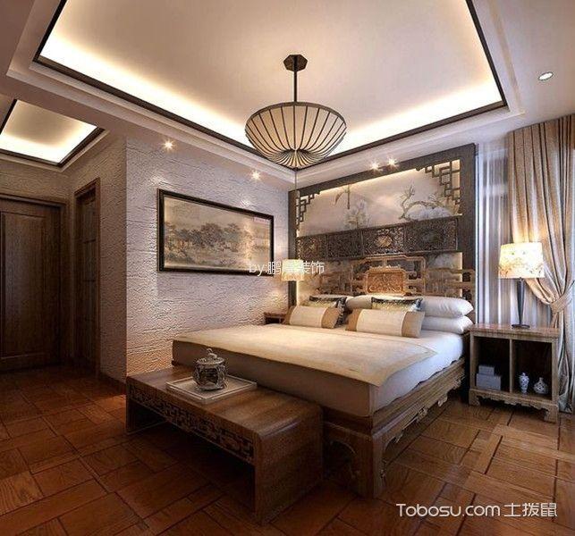 卧室咖啡色榻榻米北欧风格装修效果图