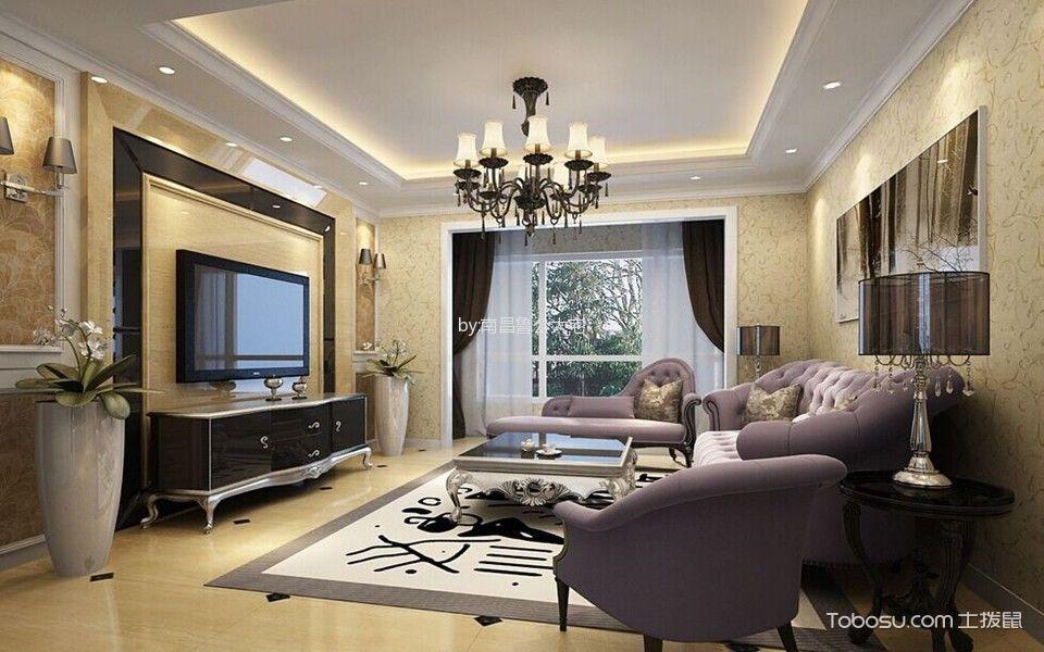 海亮珑园三居室现代风格装修案例