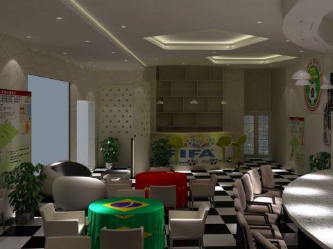 泸西足球主题餐厅265平装修设计案例