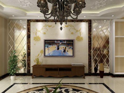 五彩点情苑146平米简欧风格三居室装修效果图