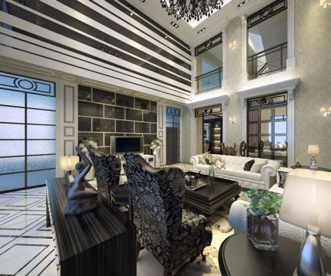 蓝水园欧式风格别墅设计装修效果图