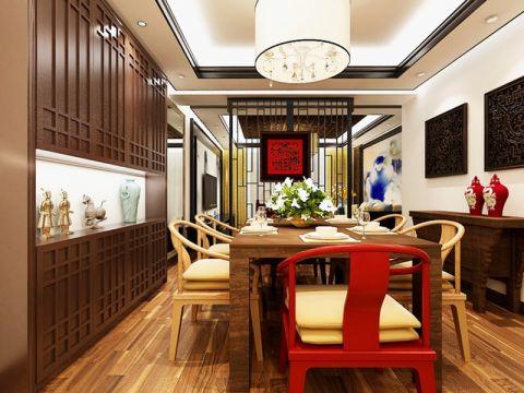 2020新中式120平米装修效果图片 2020新中式三居室装修设计图片
