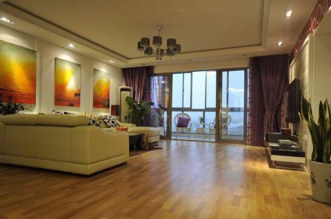 十里新城126平简约三居室半包装修设计效果图