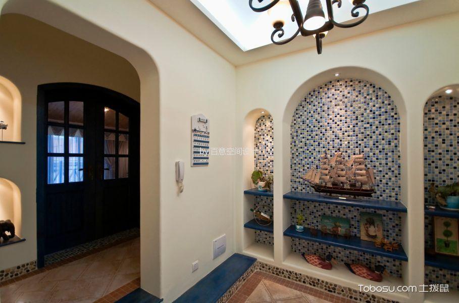 潮流地中海蓝色背景墙装修图片