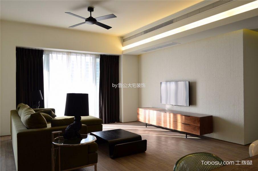 客厅 背景墙_中大长江紫都115平米现代简约风二居室装修效果图