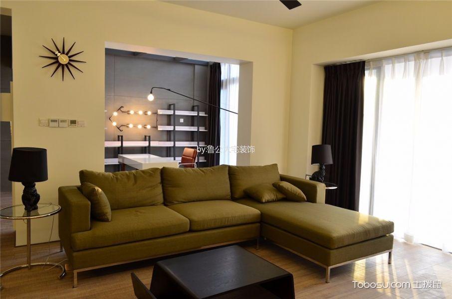客厅 隔断_中大长江紫都115平米现代简约风二居室装修效果图