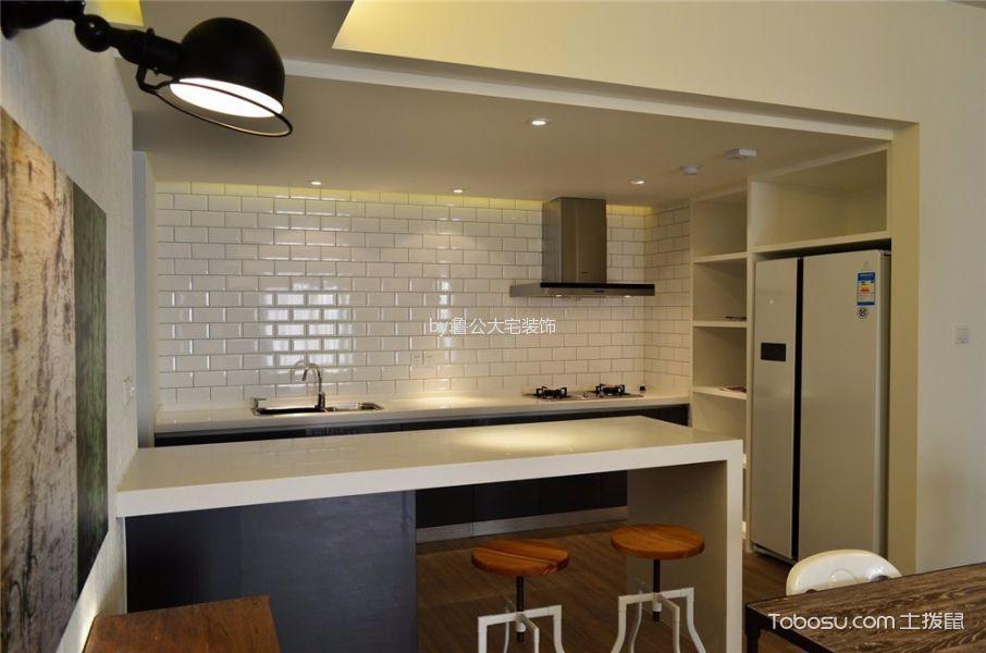 厨房 吧台_中大长江紫都115平米现代简约风二居室装修效果图