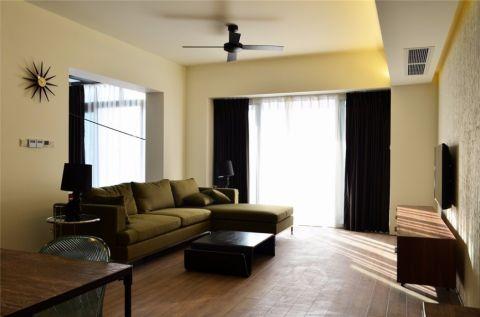 中大长江紫都115平米现代简约风二居室装修效果图