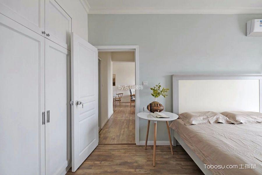 卧室咖啡色地板砖北欧风格装饰效果图