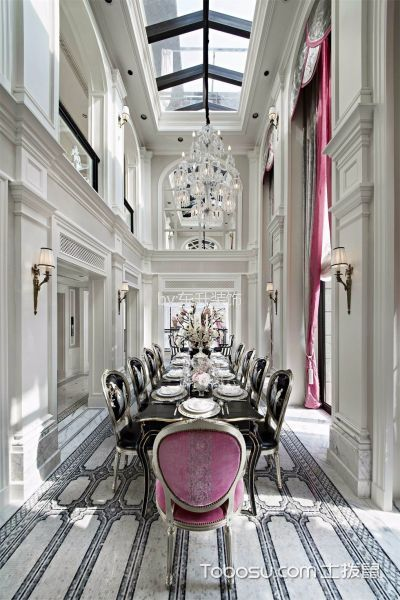 法式经典餐厅装饰实景图