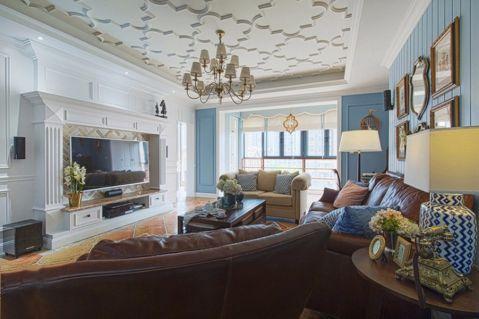 唯美白色精装修客厅装修案例