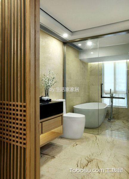 卫生间白色隔断新中式风格装修图片