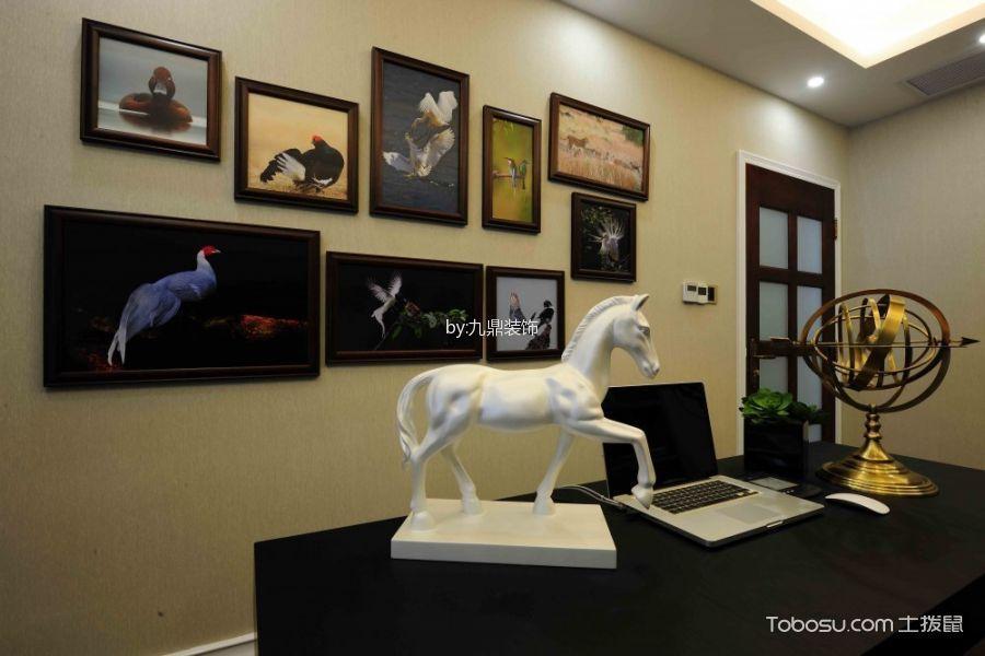 书房白色背景墙东南亚风格装潢图片