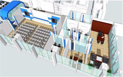 中融佰盛2000平米办公室装修效果图