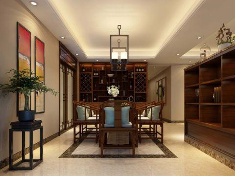 柏庄跨界两居室中式风格装修案例效果图