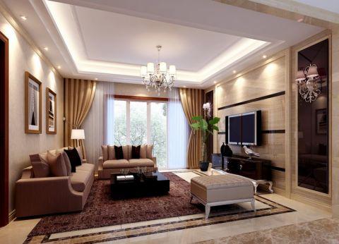 2021简欧客厅装修设计 2021简欧窗帘装修图