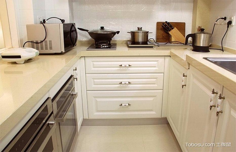 厨房白色隔断现代风格装潢效果图
