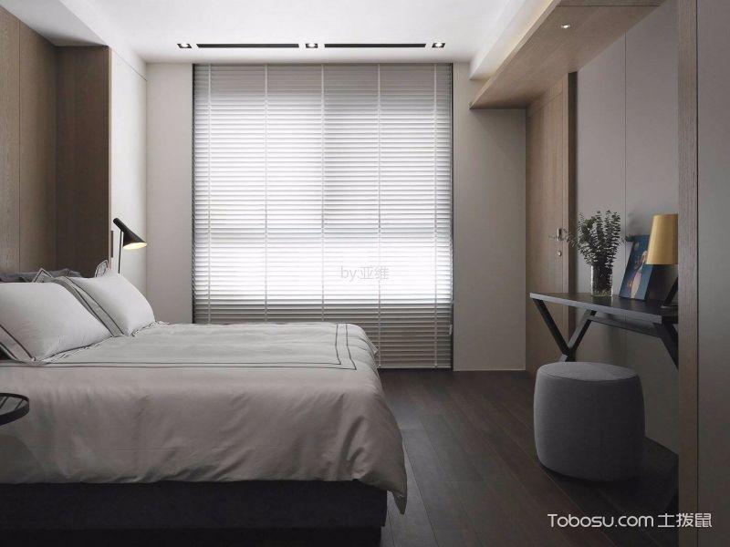 卧室咖啡色地板砖北欧风格装修设计图片