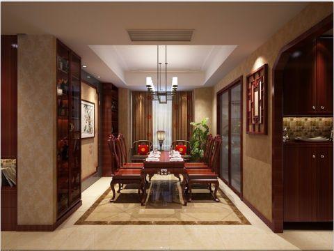 2019中式240平米装修图片 2019中式三居室装修设计图片