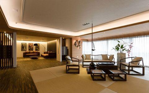 星河国际156平米新中式风格三居室装修效果图
