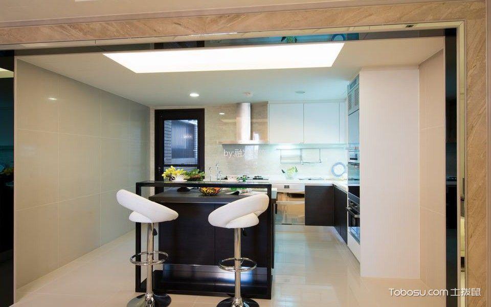 厨房白色吊顶混搭风格装修图片
