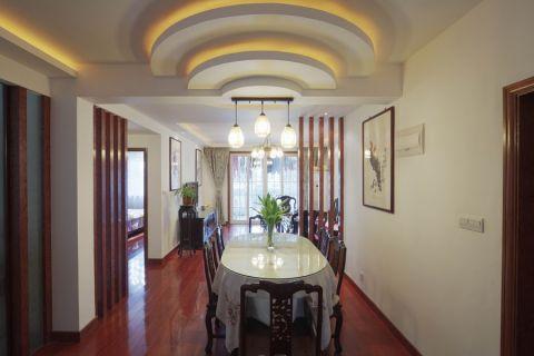 杨浦区欧洲豪庭新中式风格实景图