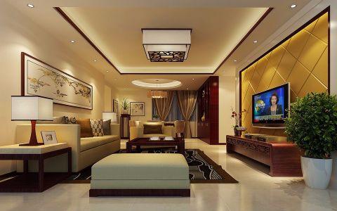 东海国际公寓现代中式风格装修效果图