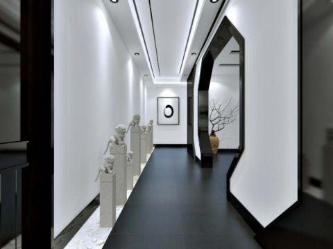 新中式 办公空间效果图