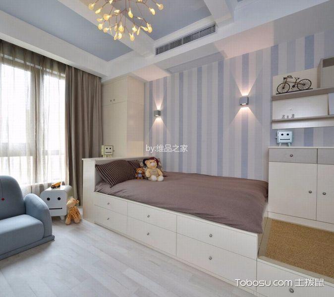 卧室白色榻榻米北欧风格装饰设计图片