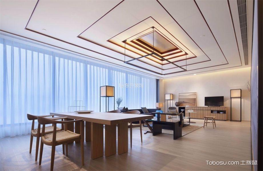 大开间改造三室轻奢现代中式