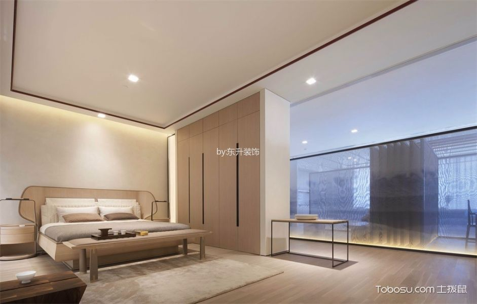 卧室黄色衣柜新中式风格装饰设计图片