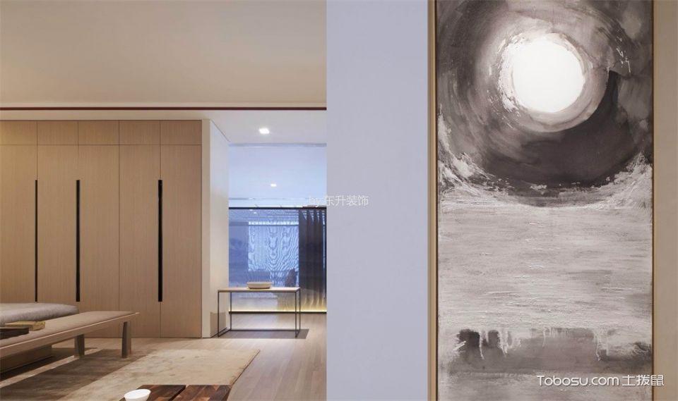 卧室咖啡色地板砖新中式风格装潢设计图片