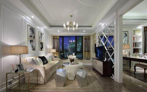 2020现代简约120平米装修效果图片 2020现代简约四居室装修图