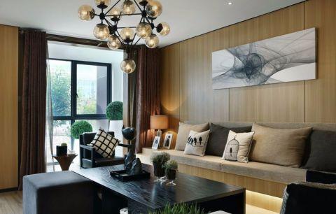 后现代和极简风格的搭配,加上墙面木质纹理的处理,让整个房子充满了北欧风情