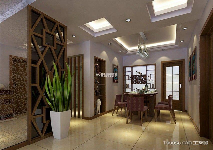 餐厅吊顶新中式风格装饰图片图片
