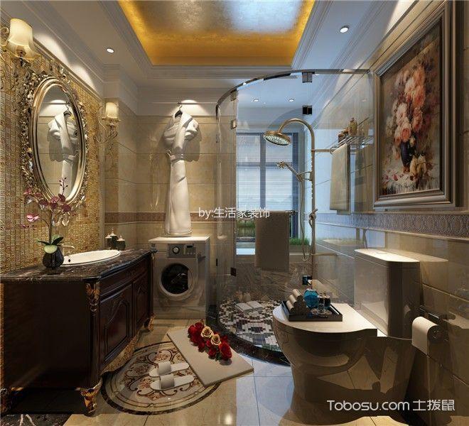 卫生间白色隔断法式风格装饰效果图
