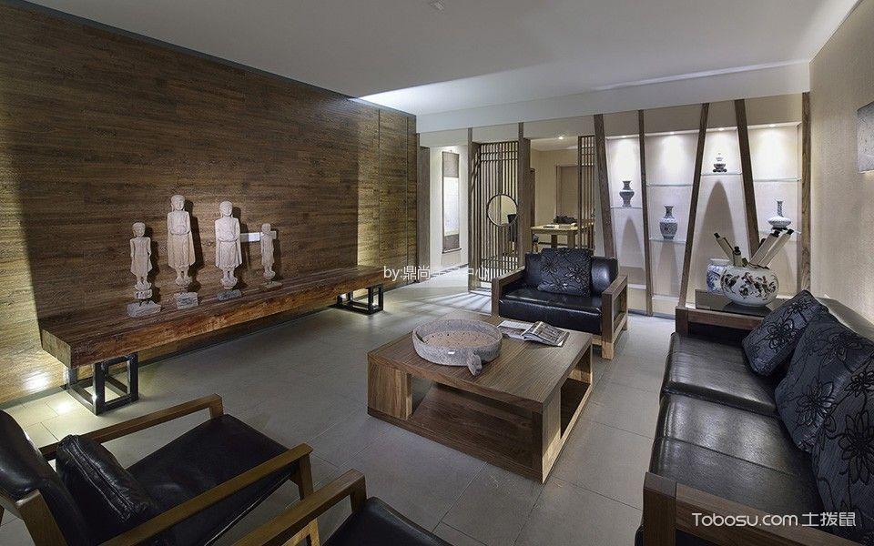 杭州东方福邸120平米新中式风格效果图