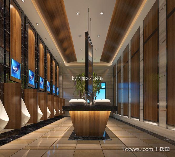 商场美食城设计卫生间装潢图