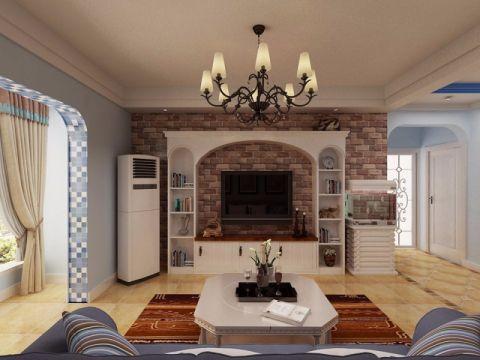 华木里地中海风格设计典雅三居室效果图
