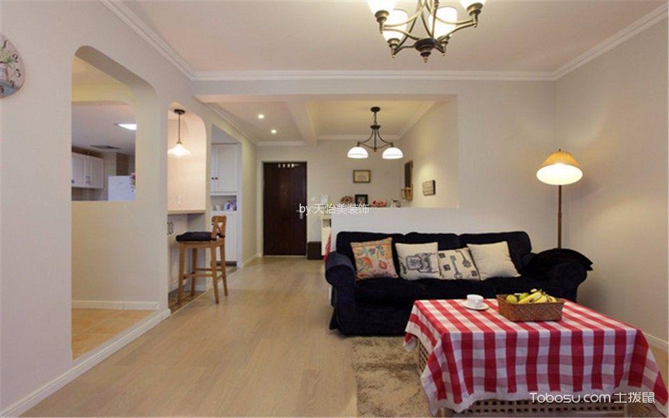 保利江上明珠现代美式风格两居室效果图