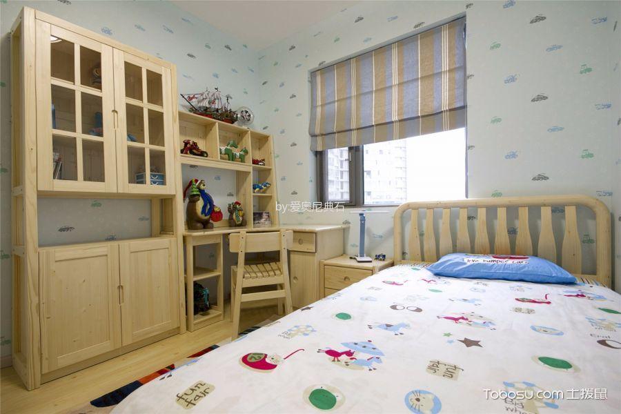 儿童房彩色窗帘混搭风格装修效果图