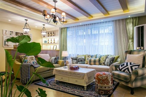 丰泰家园140平米地中海风格效果图