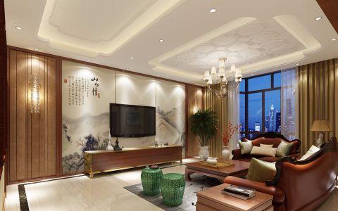 和合家园300平独栋别墅新中风格效果图