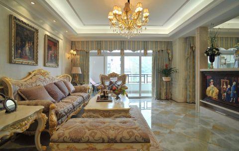 武汉丽水佳园168平半包欧式风格装修设计图